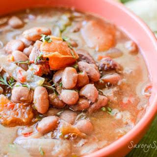 Easy Slow Cooker Charro Beans.