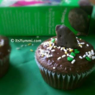 Thin Mint Truffle Cupcakes