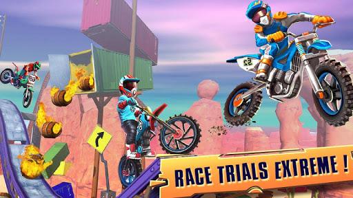 Code Triche course vélo d'essai: xtreme stunt bike jeux course APK MOD (Astuce) screenshots 1