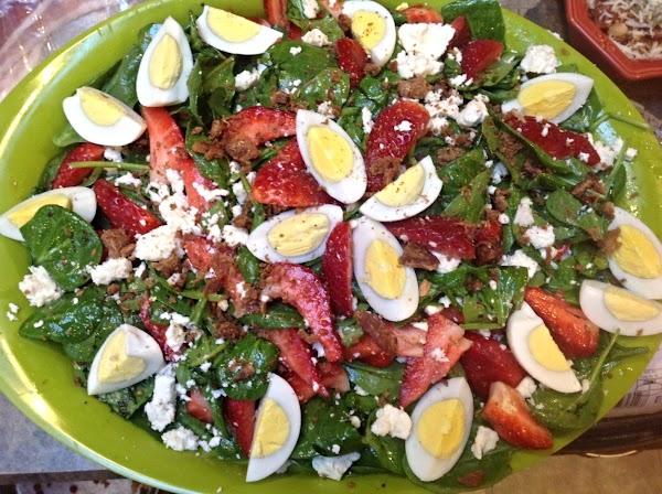 Strawberry Spinach Salad W/bacon-egg & Feta Chse Recipe