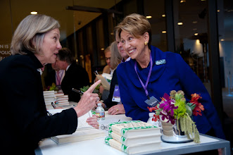 Photo: Karen Elliott House discusses her book with a fellow RAND Trustee Ambassador Barbara Barrett at the RAND Politics Aside event in Santa Monica.