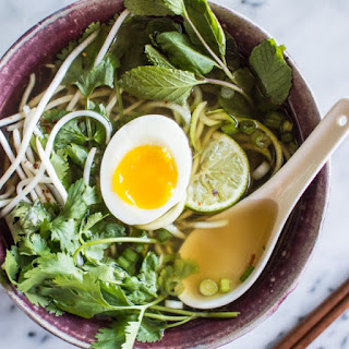 Quick Vegetarian Pho with Zucchini Noodles Recipe