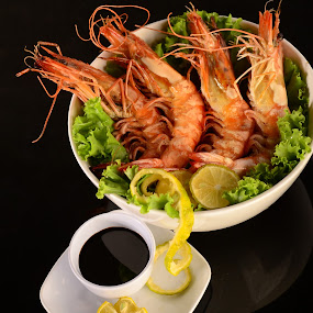 shrimp by Krishna Murti - Food & Drink Plated Food ( fresh, seafood, comercial, photography )