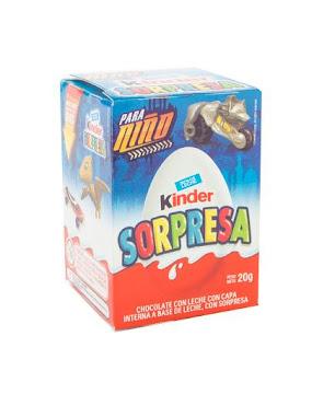 CHOCOLATE KINDER   SORPRESA NIÑO X20G.