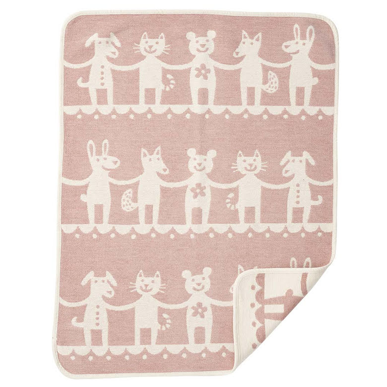 Babyfilt Klippan Dance pink
