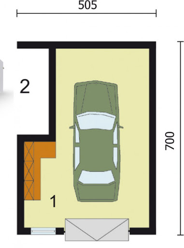 G19 bliźniak - Rzut garażu