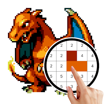 Pokemon - Free Coloring by Number Pixel Art Games