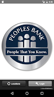Screenshot of Peoples Bank Texas Mobile