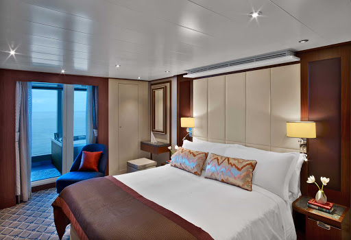 Relax in a Wintergarden Suite during your sailing on Seabourn Encore.