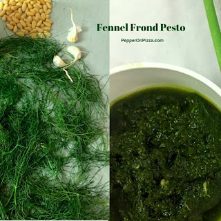 Pesto of Fennel fronds with Pine nuts and Basil Oil