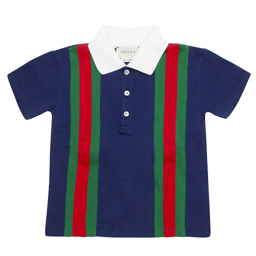 Thumbnail images of Gucci Baby Cotton Striped Polo