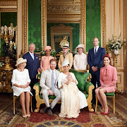 Archie Mountbatten-Windsor and his parents, the Duke and Duchess of Sussex, on the day of his christening, July 6 2019, at Windsor Castle, United Kingdom. Guests included, from left, Camilla, Duchess of Cornwall, Prince Charles, Doria Ragland, Lady Jane Fellowes, Lady Sarah McCorquodale, Prince William, and Catherine, Duchess of Cambridge.