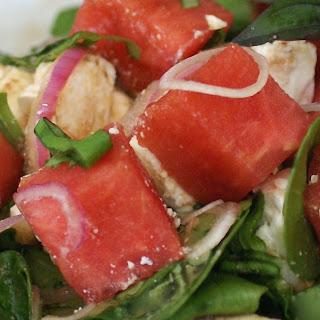 Watermelon Feta Summer Salad With Basil