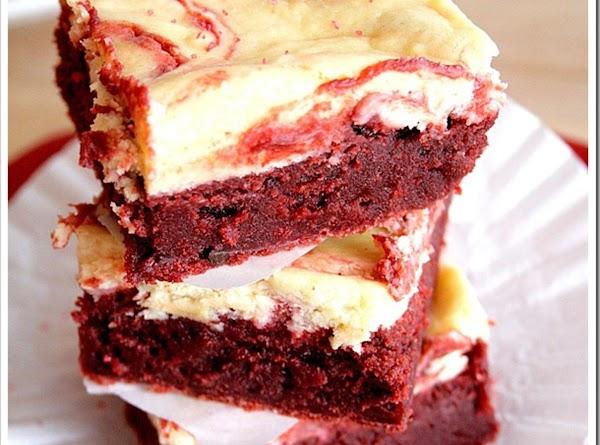Red Velvet Cheesecake Swirl Brownies Recipe
