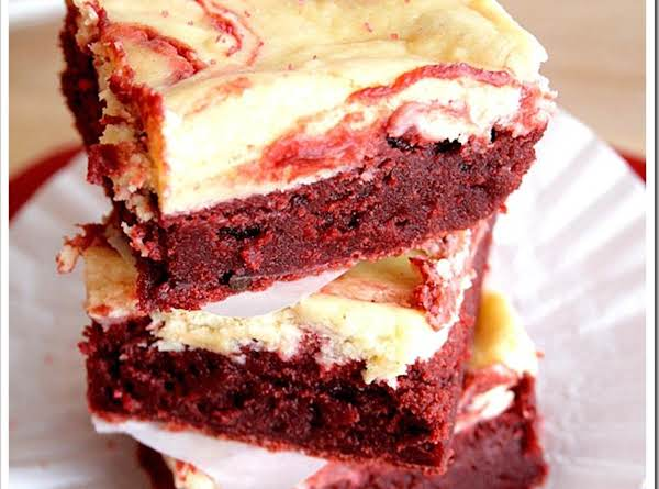 Red Velvet Cheesecake Swirl Brownies Recipe