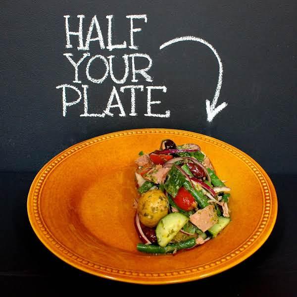 Niçoise Salad Anchovy Dressing & Fresh Basil