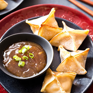 General Tso's Chicken Baked Wontons
