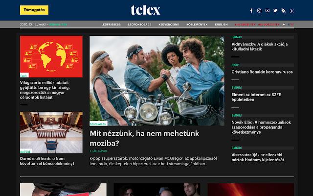 Telex.hu Dark Mode