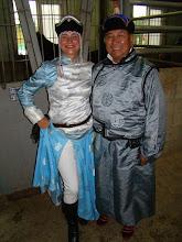 Photo: Cleo und Präsident Jambanyandag Munkhjargal