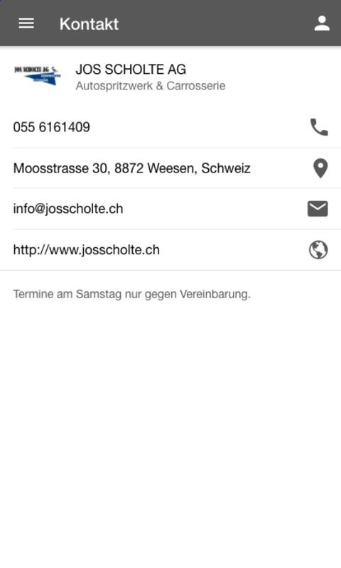 Jos Scholte AG- screenshot