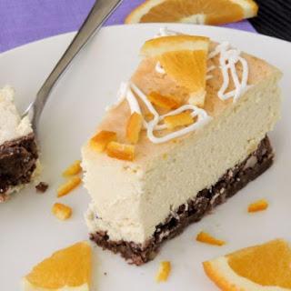 Low Carb Orange Ricotta Cheesecake.