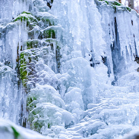Frozen waterfall by Stefan Sorean - Landscapes Waterscapes ( white, winter )
