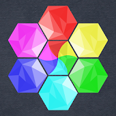 Bubbles Hexagon Puzzle