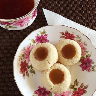 Butterscotch Thumbprint Cookies
