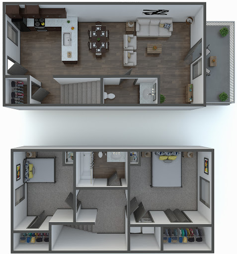 Forest Hills Apartments Augusta Ga: The Parker Floorplan (2 Bed, 1.5 Bath)