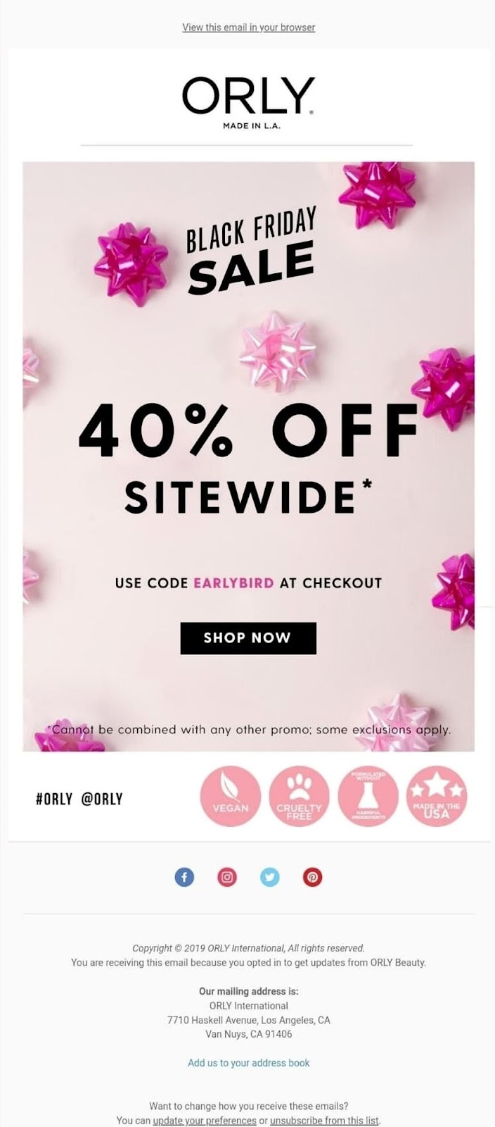 Orly email example
