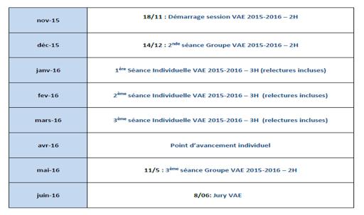 Calendrier VAE Manager Transports et Logistique