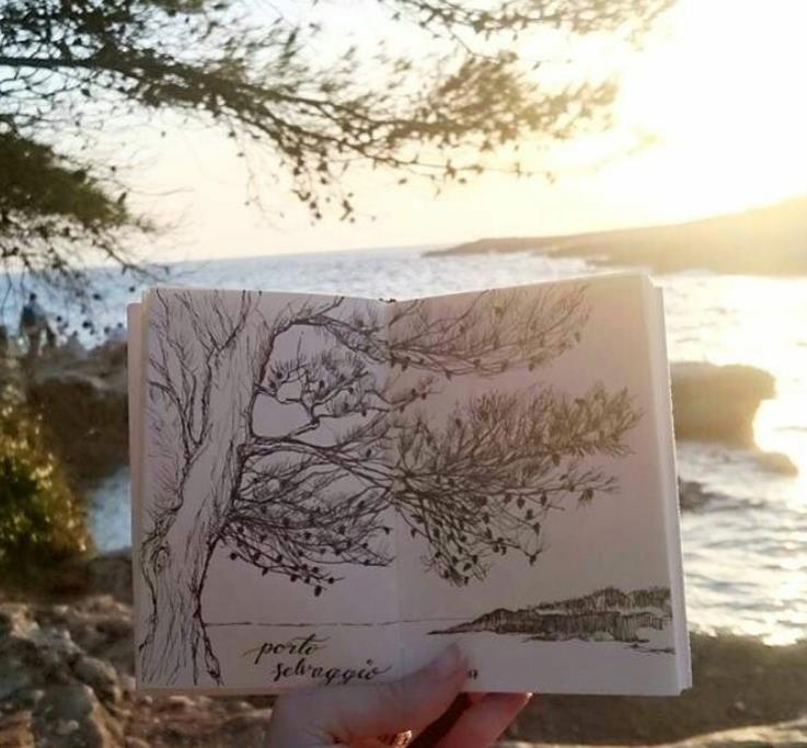 Spontaniczny rysunek podczas wakacji