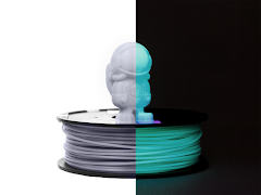 CLEARANCE - Blue Glow in the Dark MH Build Series ABS Filament - 2.85mm (1kg)