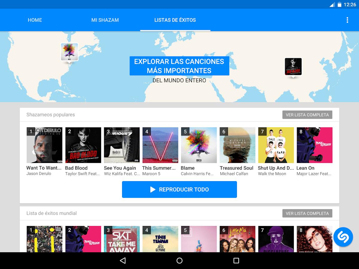Shazam: captura de pantalla