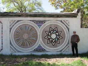 Photo: A tile mosaic on the B&B back wall, circa 1938.