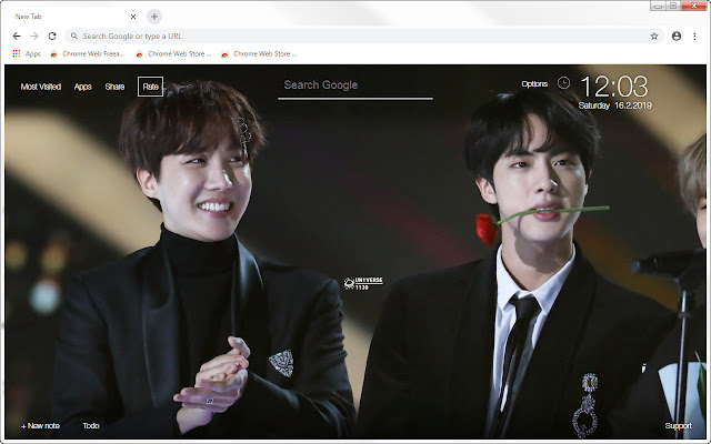 J Hope & Jin HD Wallpapers HopeJin New Tab