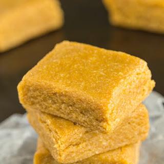 Healthy Three Ingredient Maple Almond Fudge.