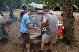 Photo: Ok, so these fine gents used a camp stove to make rice