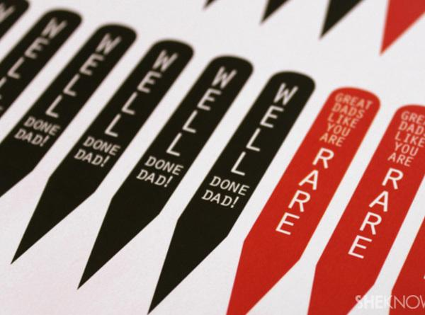 For a finishing touch, print out the PDF of steak markers on card stock...