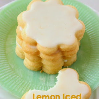 Lemon Iced Shortbread Cookies