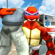 Flying Ninja Warrior Turtle City Rescue Mission 3D