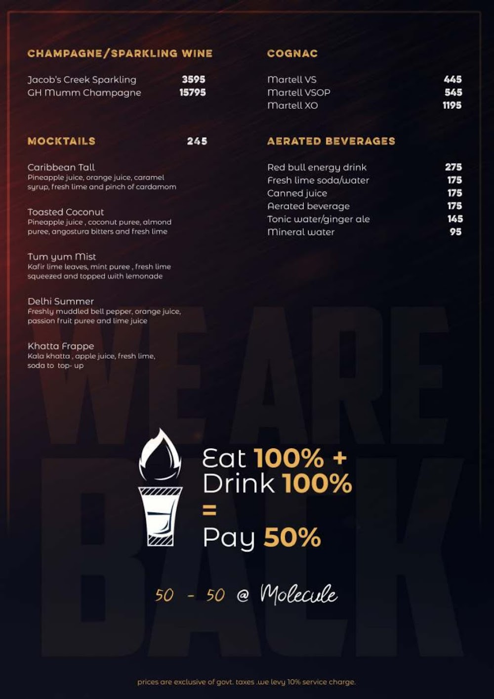 Molecule Air Bar menu 4