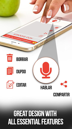 Spanish speech to text – voice typing app App Report on