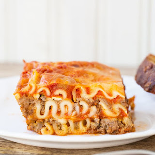Mom's Cottage Cheese Lasagna.