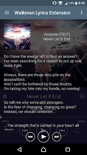 Walkman Lyrics Extension - náhled