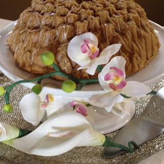 It's So Italian Easter Cake with a Cappuccino Swirl & Glaze.