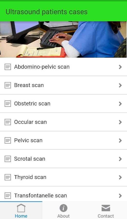 Ultrasound cases- screenshot
