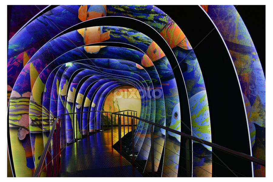 Painted Tunnel at Swarovski Crystal World, Wattens, Austria  by Lindra Hismanto - Artistic Objects Other Objects ( painted, lindra, lindra hismanto, images, painted tunnel, hismanto, crystal, swarovski, wattens, austria, world, tunnel )