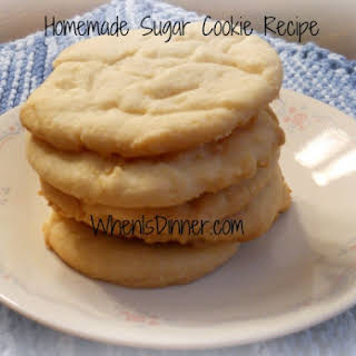 Homemade Sugar Cookies.