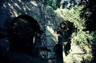 Photo: Deatil of the Gier aqueduct bridge called 'Le pont des Granges'